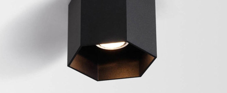 Copy of plafonnier hexo noir o12 7cm wever ducre normal
