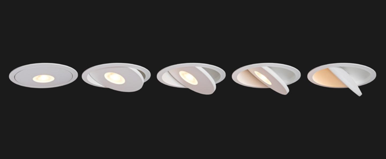 Copy of spot encastrable flat led noir 2700k 1311lm o12cm h6cm doxis normal