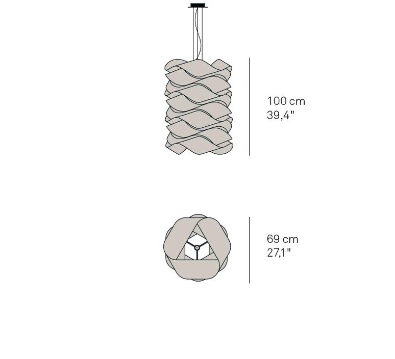 Link chain ray power suspension pendant light  lzf dark lk3 s 20  design signed 40218 product