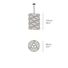 Link chain ray power suspension pendant light  lzf dark lk3 s 20  design signed 40218 thumb