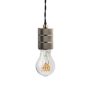 Douille pour ampoules type e40 metal argente h10cm o6 2cm zangra normal