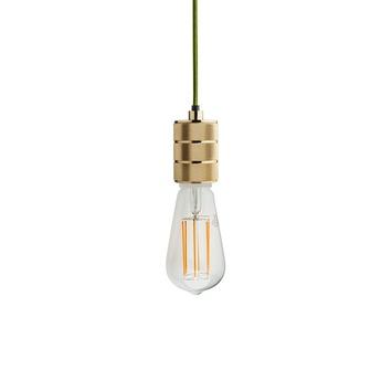 Douille pour ampoules type e40 metal dore h10cm o6 2cm zangra normal