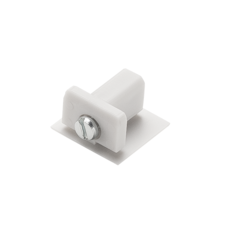 Embout pour rail d track blanc plastique l1 1cm h1 8cm slv 72567 thumb