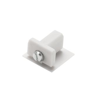 Embout pour rail d track blanc plastique l1 1cm h1 8cm slv normal