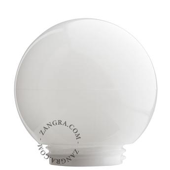 Glass 006 globe en verre opale dimensions du globe o 14 5 cm x 13 cm zangra normal