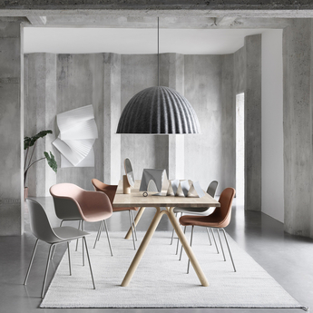Grande suspension under the bell gris o82cm muuto normal