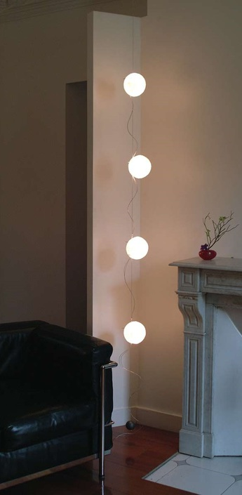 Guirlande lumineuse lune branchement plafond blanc h250cm celine wright normal