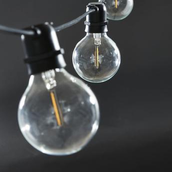 Guirlande lumineuse string lights function noir 0l1020cm h10cm house doctor normal