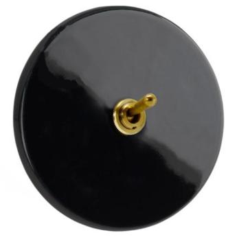 Interrupteur interrupteur noir brillant o10cm h10cm zangra normal