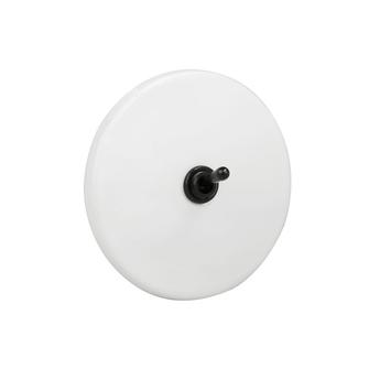 Interrupteur interrupteur porcelaine blanc noir o10cm h10cm zangra normal