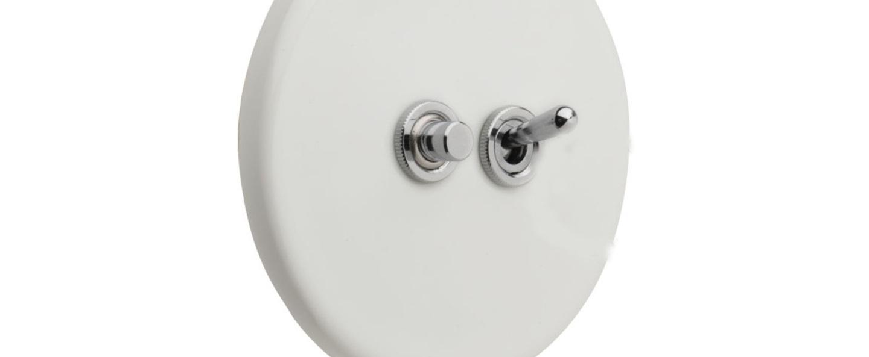 Interrupteur porcelaine 010 blanc brillant o10cm h10cm zangra normal