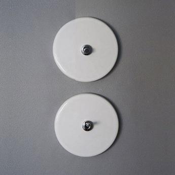 Interrupteur porcelaine 010 blanc chrome o10cm zangra normal