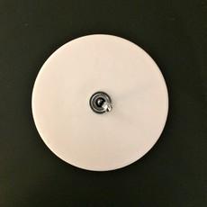 Interrupteur porcelaine 020 blanc bouton argent o10cm zangra 37095 thumb