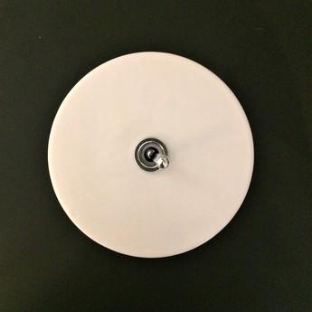 Interrupteur porcelaine 020 blanc bouton argent o10cm zangra normal