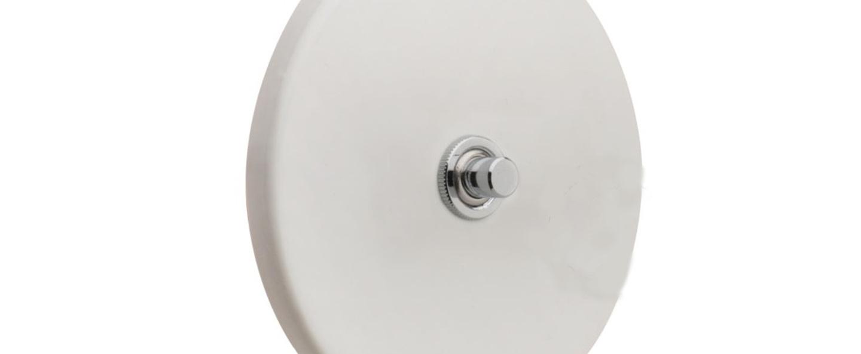 Interrupteur porcelaine blanc brillant o10cm h10cm zangra normal
