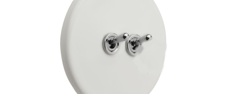 Interrupteur porcelaine10 blanc brillant o10cm h10cm zangra normal