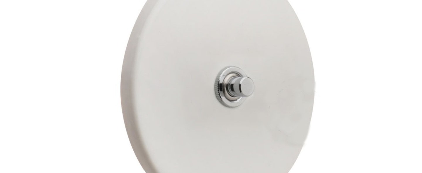 Interrupteur porcelaine20 blanc brillant o10cm h10cm zangra normal