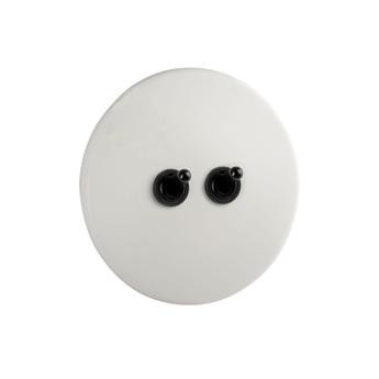 Interrupteur pure porcelaine noir o10cm h10cm zangra normal