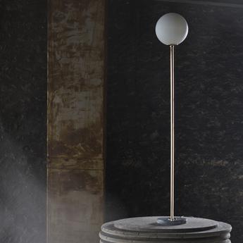 Lampadaire 06 version 1 laiton marbre de carrare o25cm h160cm magic circus editions normal