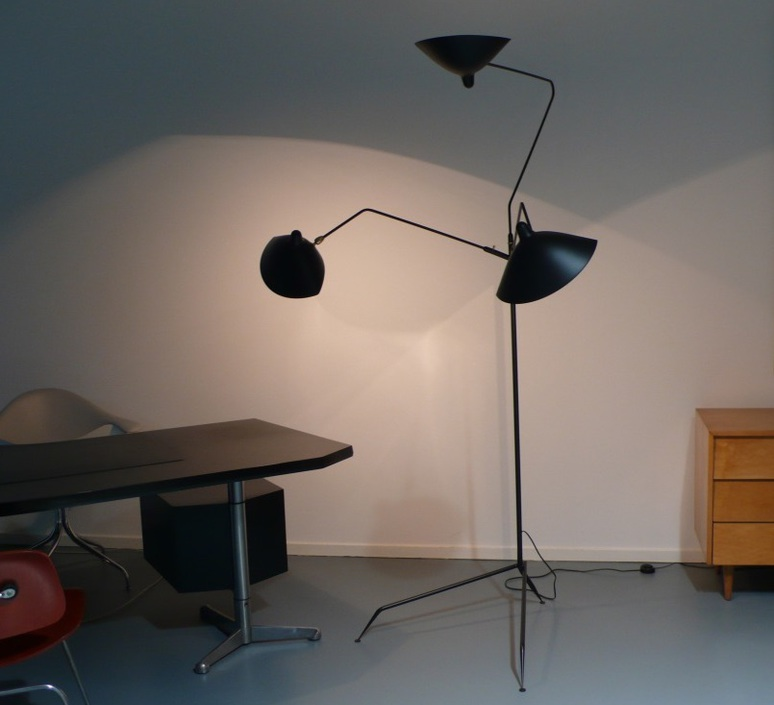3 bras pivotants serge mouille editionssergemouille l3b noir luminaire lighting design signed 20769 product
