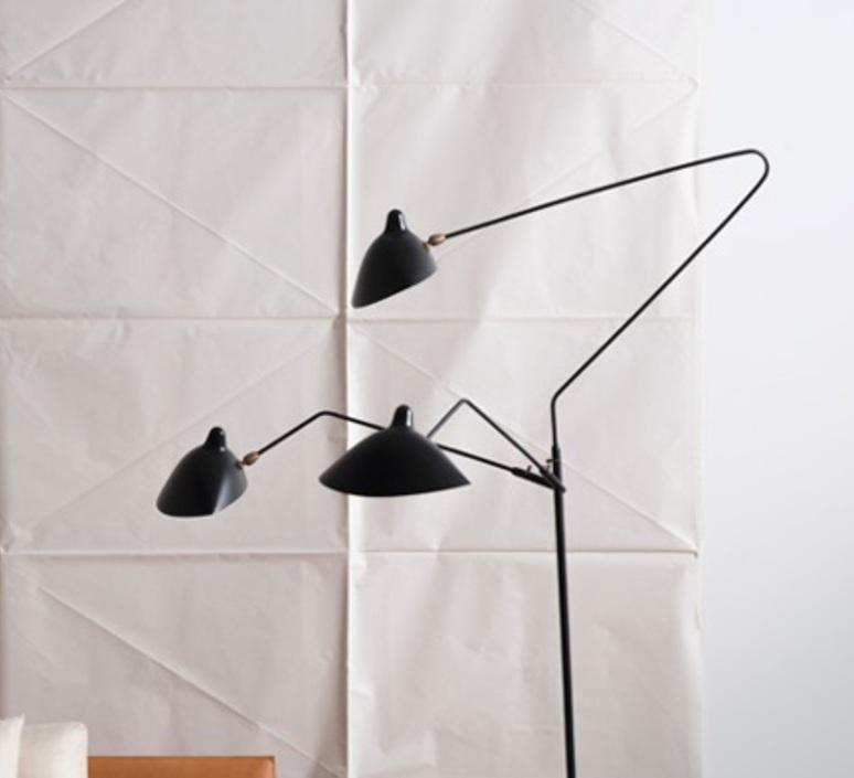 3 bras pivotants serge mouille editionssergemouille l3b noir luminaire lighting design signed 20770 product