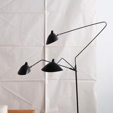 3 bras pivotants serge mouille editionssergemouille l3b noir luminaire lighting design signed 20770 thumb