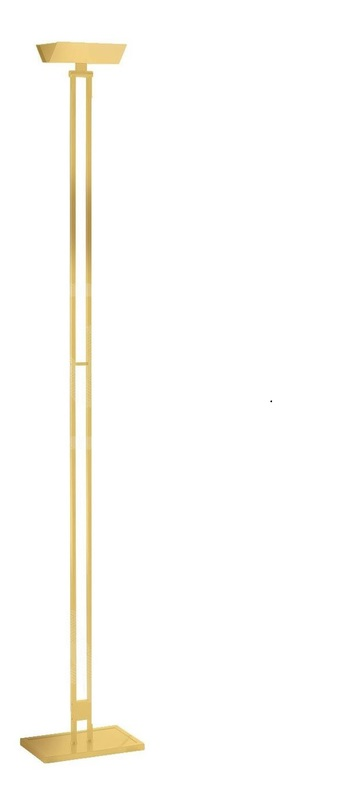 Lampadaire 555 led laiton poli h185cm lumen center italia normal