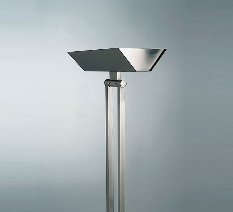 lampadaire 555 led nickel h185cm lumen center italia luminaires nedgis. Black Bedroom Furniture Sets. Home Design Ideas