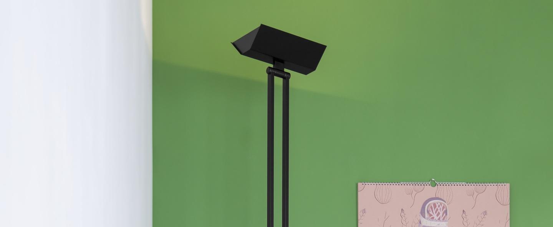 Lampadaire 555 led noir h185cm lumen center italia normal