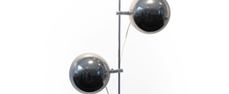 Lampadaire a23 d chrome o26cm h150cm disderot normal