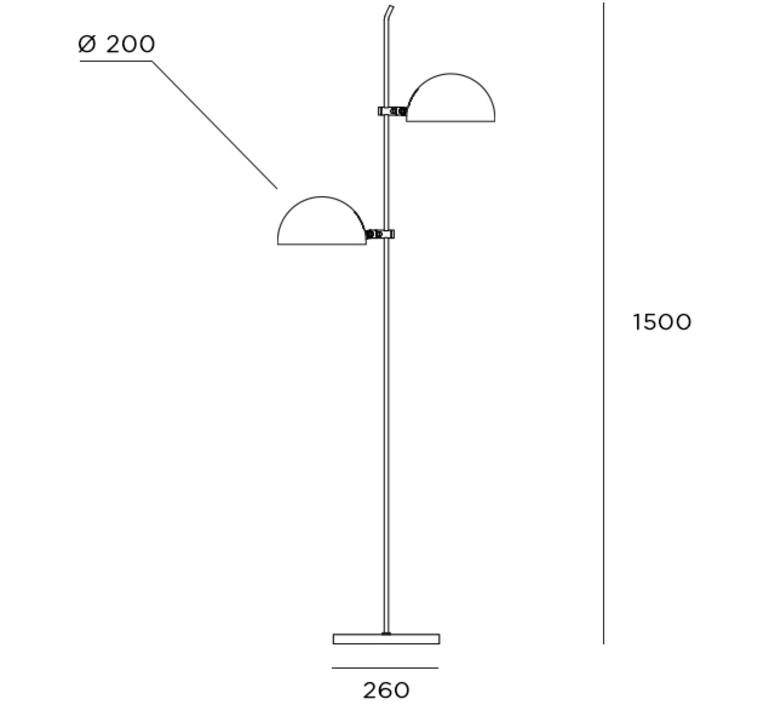 6135 gm pierre paulin lampadaire floor light  disderot 6135gm b  design signed nedgis 84118 product