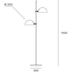 6135 gm pierre paulin lampadaire floor light  disderot 6135gm b  design signed nedgis 84118 thumb