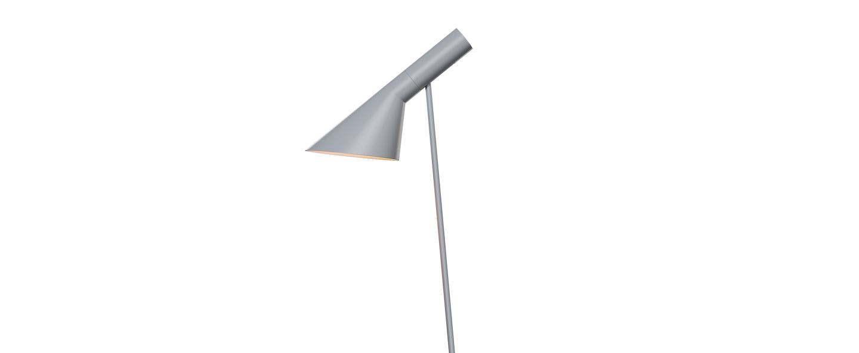 Lampadaire aj gris l27 5cm h130cm louis poulsen normal
