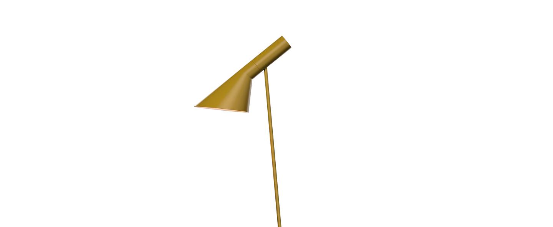 Lampadaire aj jaune l27 5cm h130cm louis poulsen normal