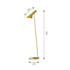 Aj arne jacobsen lampadaire floor light  louis poulsen 5744165358  design signed 48552 thumb