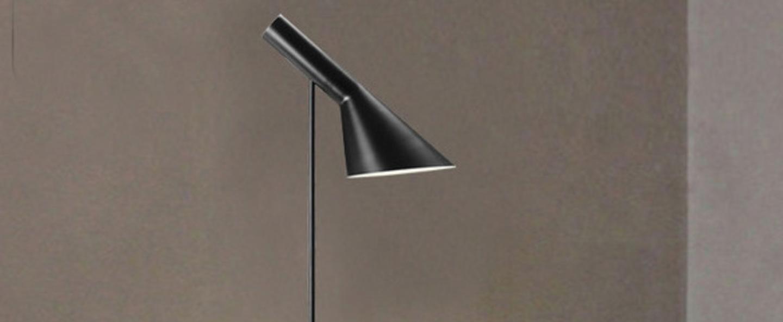 Lampadaire aj noir l27 5cm h130cm louis poulsen normal