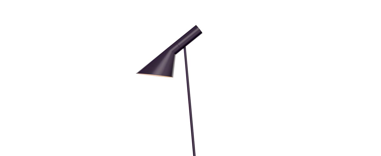 Lampadaire aj violet l27 5cm h130cm louis poulsen normal