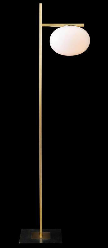 Lampadaire alba 382 laiton opale led o28 5cm h161cm oluce normal