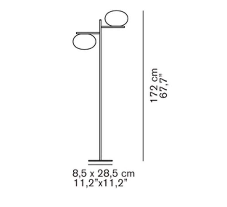 Alba 383 mariana pellegrino lampadaire floor light  oluce alba383  design signed 40547 product