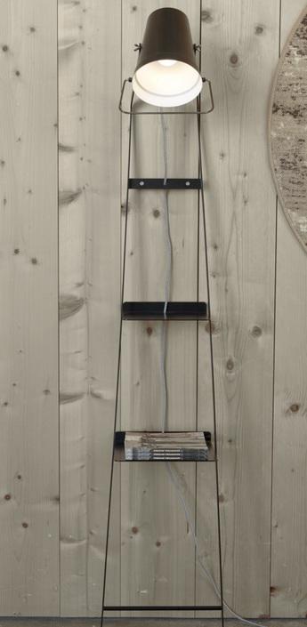 Lampadaire alfred noir h175cm karman normal