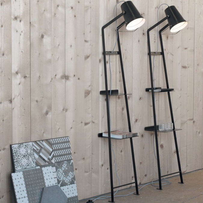 lampadaire alfred noir h175cm karman luminaires nedgis. Black Bedroom Furniture Sets. Home Design Ideas