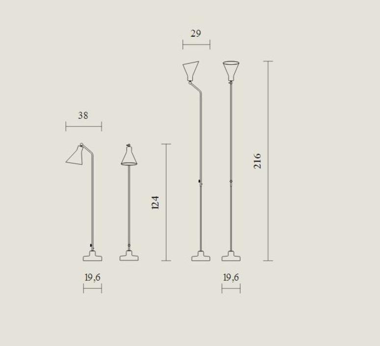 Alzabile ignazio gardella lampadaire floor light  tato italia tal400 1523  design signed nedgis 63021 product