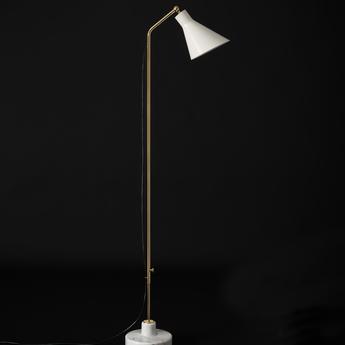 Lampadaire alzabile blanc brillant laiton marbre blanc led 2700k 806lm l38cm h216cm tato italia normal