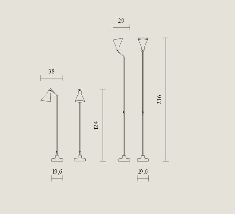 Alzabile ignazio gardella lampadaire floor light  tato italia tal400 1622  design signed nedgis 63041 product