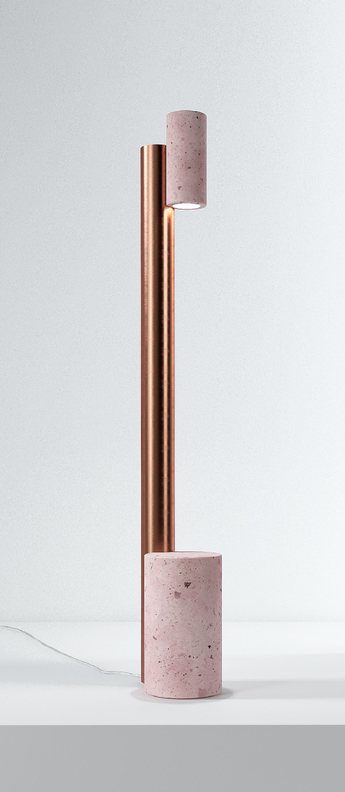 Lampadaire ambra rose l25cm h131cm david pompa normal
