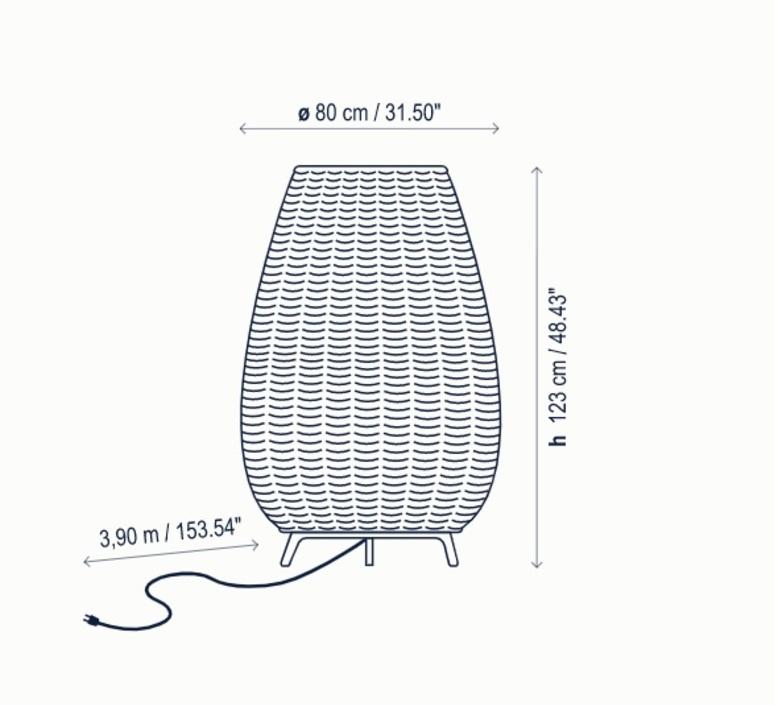 Amphora 2 alex fernandez camps et gonzalo mila lampadaire floor light  bover 0233003p744  design signed nedgis 114071 product