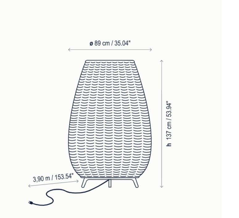 Amphora 3 alex fernandez camps et gonzalo mila lampadaire floor light  bover 0333003p747  design signed nedgis 114077 product