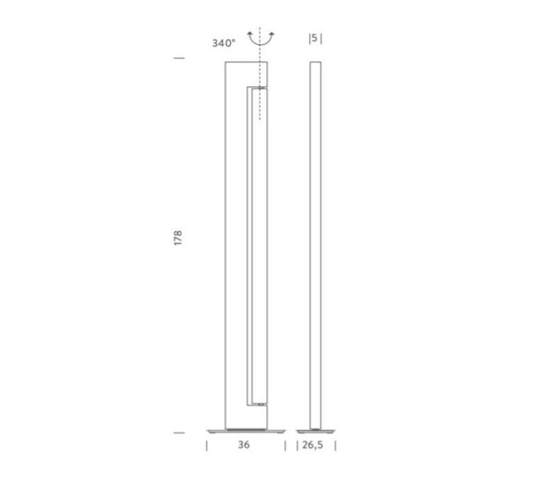 Ara ilaria marelli lampadaire floor light  nemo lighting ara tdl 2b  design signed 58366 product