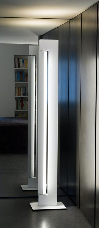 Lampadaire ara dtw blanc led 2200 a 3000k 2200 4400lml36cm h178cm nemo lighting normal