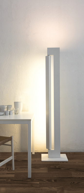Lampadaire ara total blanc led 2700k 3000k 2850lm 5200lm l26 5cm h178cm nemo lighting normal